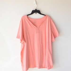 White Stag Pink Coral Shirt Size 4x (26W/28W)